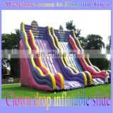 Clown drop inflatable slide for sale