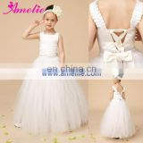 New Party Photo Prop Floor-Length Wedding Baby Shower Flower Gril Dress
