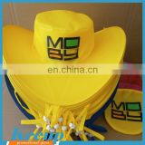 Hot Promotional custom logo cheap yellow folding hats