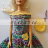 Rainbow Crochet China Doll Clothes