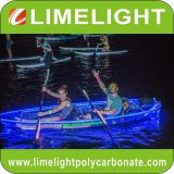 Clear kayak transparent kayak crystal kayak with LED light for night touring