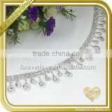 Wholesale bulk cheap silver glass chain trimming rhinestone FC-631