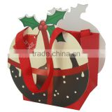 cute pumpkin shaped paper gift bag kids packaging box for Halloween gifts