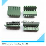 Rohs certificated 6 pin electrical 5.08mm pitch spacing pcb mount screw barrier terminal block right angle