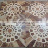 Walnut and Maple Lacquered art parquet wood flooring