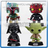 Mini Qute Funko Pop 4 styles Marvel Star War Darth Maul Vader Yoda super hero action figures cartoon models educational toy