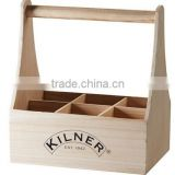 Handcrafted Wooden Beer Bucket, Cheap Wood 6 Bottles Beer Carrier, Wine Bucket Packaging Tote Box
