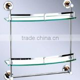 Glass tray, glass shelf, stainless steel fittings Dual tiers X004-2D