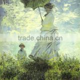 Paint manufacturers in china canvas art work hand painted wallpaper landscape oil painting for wall decoration