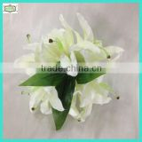 24cm 14 heads hot sale plastic lily flower wedding flower bouquet
