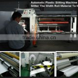 Automatic PVC PET Plastic Film Plastic Slitting Machine Slitter The Width Roll Material To Narrow
