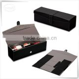Luxury storage display pu leather round tube wine gift box                                                                                                         Supplier's Choice