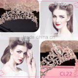 Gorgeous Sparkling Silver Big Wedding Diamante Pageant Tiara Hairband Crystal Bridal Crown For Bride