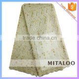 Mitaloo MFL0126 2015 Latest Embroidered High Quality Tulle Lace with Good Price Net Lace