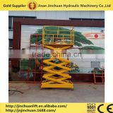 Stationary fixed hydraulic scissor lift elevator equipment /hydraulic stationary cargo lifting equipment