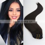 WJ008 220grams remy clip in hair extension 100% human clip in double weft marley braid hair extension                                                                                                         Supplier's Choice