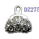 Black Bag Crystal Charm Pendant Black Purse Handbag Rhinestone Pendant Enamel Charm Hot wholesale black crystal bag pendant