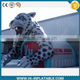 outdoor event sport advertising inflatable leopard tunnel for fooball,baseball/inflatable mascot tunnel