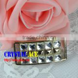 2015 fashion adjustable buckle, belt buckle manufacturers, crystal rhinestone ribbon buckle for bikini Decoration