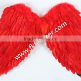 Adult Fairy Red Large Goose Feather Angel Wings Craft Supplies