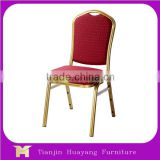 Promotional Commercial hotel furniture metal frame banquet dining chair/ cheap fast food chair