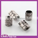 Sand pattern bell fog Zinc Alloy garment custom metal cord end