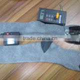 Electric heated socks with rechargeable battery