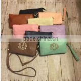 wholesale Ladies PU Clutch bag, 3 layer PU bridal clutch with Adjustable Strap in 11 Color Ladies Clutch Bag DOM-105149