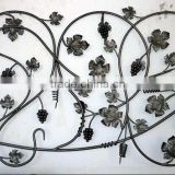 cast steel grape and leaves staircase wrought iron component design                                                                         Quality Choice
