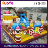 candy stick inflatable amusement play park, jumping play party inflatable funcity,kids play games inflatable castle for event