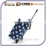 Wholesale high quality polyester folding shopping cart bag trolley case
