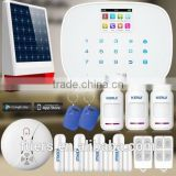 2016 KERUI LCD color display and touch keypad Wireless intelligent GSM security alarm system