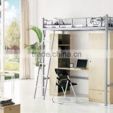 Metal Apartment bunk bed with stair
