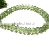 AAA Green AMETHYST faceted Rondelle Beads 6-12 mm 8 inches full Strand For making any kind of beautiful jewellery