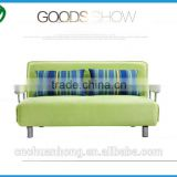 Modern style high density sponge stainless steel frame fabric sofa bed