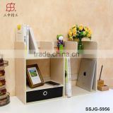 2015 Modern Design Wooden Small Bookcase / Book Rack / Bookshelf