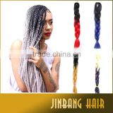 2016 hot selling ombre jumbo braiding straight hair synthetic afro kinky braids hair box braid extensions