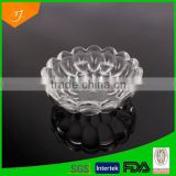 2014 Hot Selling Machine-Pressed Flower Clear Glass Salad Bowl,ZiBO Glass Embossed Crystal Friut Salad Bowl