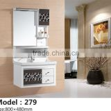 Bath cabinet with glass vanity vessel.New design style PVC bathroom towel cabinet,Simple bath cabinet with glass vanity top