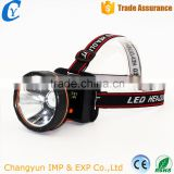 High Quality Rechargeable Lithium Battery Rotating Light XPE Flashlight Strong Light Headlamp