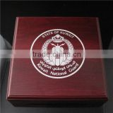 Silver Logo Wooden Craft Box / MDF Wooden Box / Wooden Gift Box for Coin