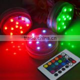 Waterproof Multicolor Remote Controlled Battery Operated Submersible Led Light