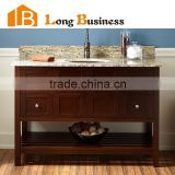 LB-LX2038 Floor mounted brown oak solid wood european modern bathroom vanity