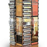 Rotating Flooring Literature Display Stand Metal Rack Shelves / Rotating Counter Display
