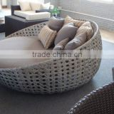 Outdoor furniture anti-UV rattan round beach bed