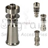 titanium nail domeless Direct inject design fits 10 mm glass joints and removes the need for a traditional Vapor Dome.