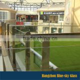 LT China leading manufacturer AS CE standard 3-19mm thice tempered glass for balustrade and fence