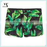Wholesale Summer 100% Polyester Men's Swimming Shorts Elastic Waist Swimming Trunks Custom Printed