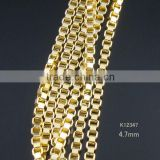 box shape gold chain design for man's necklace chain