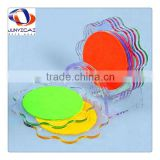 new style wholesale clear acrylic coaster